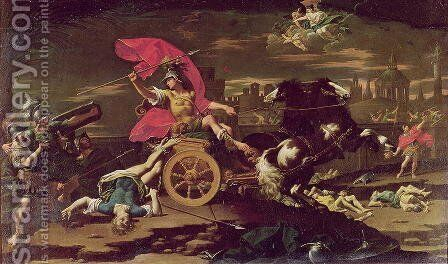 Achilles Dragging the Body of Hector around the Walls of Troy