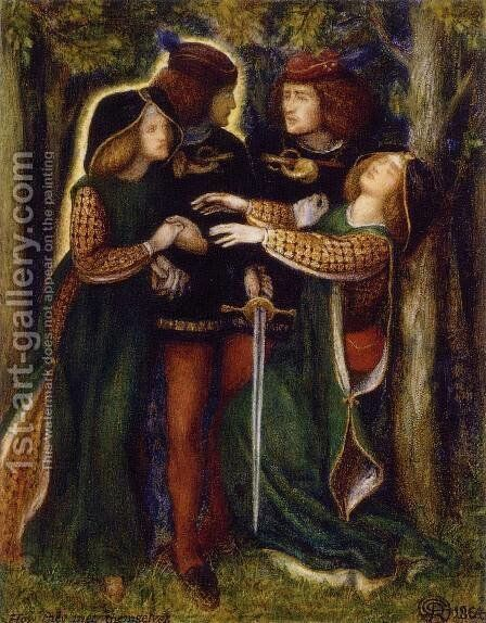 How They Met Themselves by Dante Gabriel Rossetti - Reproduction Oil Painting