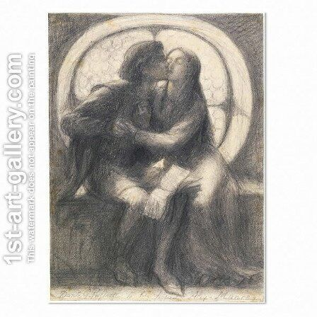 Paolo and Francesca by Dante Gabriel Rossetti - Reproduction Oil Painting