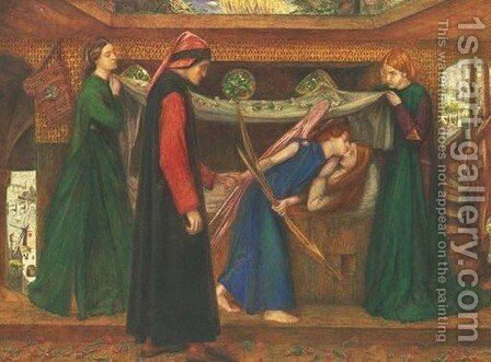 Dante's Dream at the Time of the Death of Beatrice by Dante Gabriel Rossetti - Reproduction Oil Painting