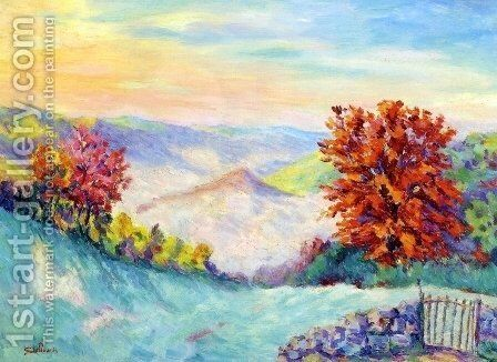 Le Puy Barriou I by Armand Guillaumin - Reproduction Oil Painting