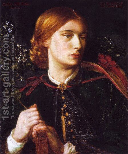 Portrait of Maria Leathart by Dante Gabriel Rossetti - Reproduction Oil Painting