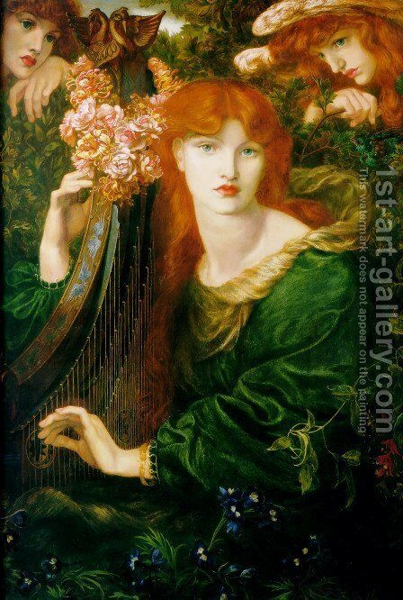 La Ghirlandata by Dante Gabriel Rossetti - Reproduction Oil Painting