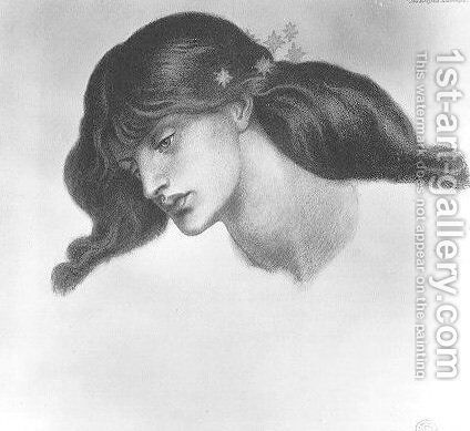 The Blessed Damozel - study by Dante Gabriel Rossetti - Reproduction Oil Painting