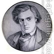 Portrait of Thomas Woolner by Dante Gabriel Rossetti - Reproduction Oil Painting