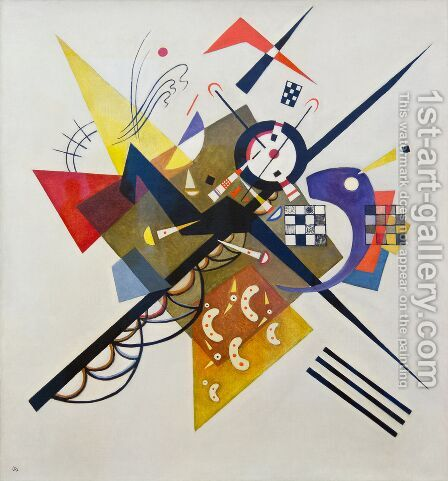 On White II Painting by Wassily Kandinsky