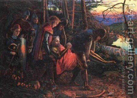 The Knight of the Sun (reduced version) by Arthur Hughes - Reproduction Oil Painting