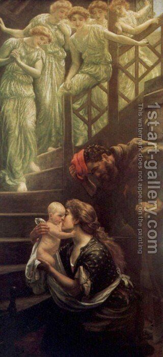 The Heavenly Stair by Arthur Hughes - Reproduction Oil Painting