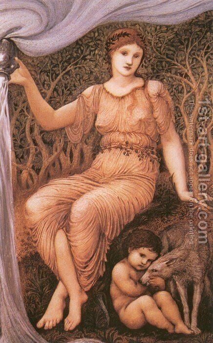 Earth Mother by Sir Edward Coley Burne-Jones - Reproduction Oil Painting
