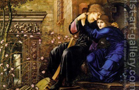 Love Among the Ruins by Sir Edward Coley Burne-Jones - Reproduction Oil Painting
