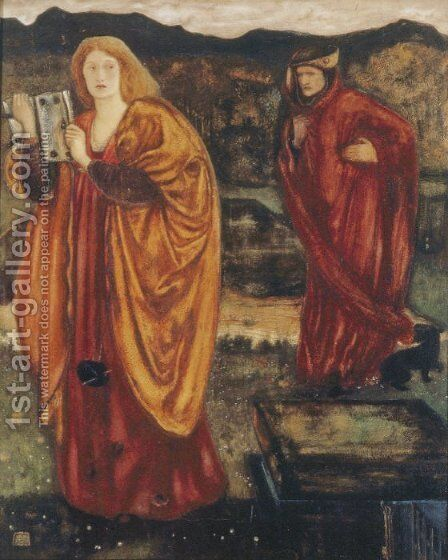 Merlin and Nimue by Sir Edward Coley Burne-Jones - Reproduction Oil Painting