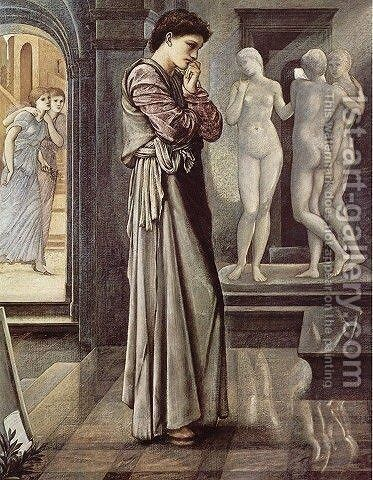 Pygmalion and the Image I: The Heart Desires by Sir Edward Coley Burne-Jones - Reproduction Oil Painting