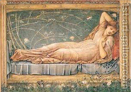 Sleeping Beauty by Sir Edward Coley Burne-Jones - Reproduction Oil Painting