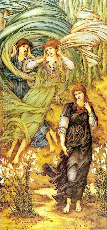 Spona de Libano by Sir Edward Coley Burne-Jones - Reproduction Oil Painting