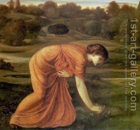 The March Marigold by Sir Edward Coley Burne-Jones - Reproduction Oil Painting