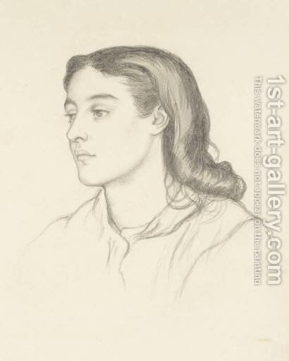 Miss Robinson (Mrs. Fernandez) by Dante Gabriel Rossetti - Reproduction Oil Painting