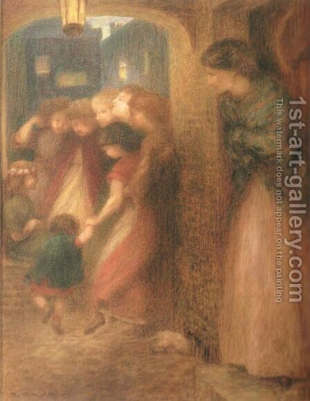 The Gate of Memory by Dante Gabriel Rossetti - Reproduction Oil Painting