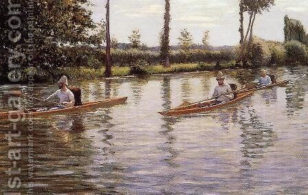 Perissoires sur l'Yerres by Gustave Caillebotte - Reproduction Oil Painting