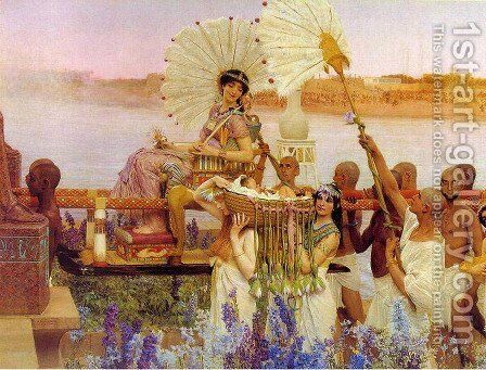 The Finding of Moses by Sir Lawrence Alma-Tadema - Reproduction Oil Painting
