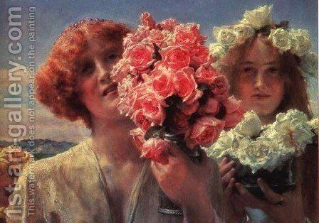 Summer Offering by Sir Lawrence Alma-Tadema - Reproduction Oil Painting