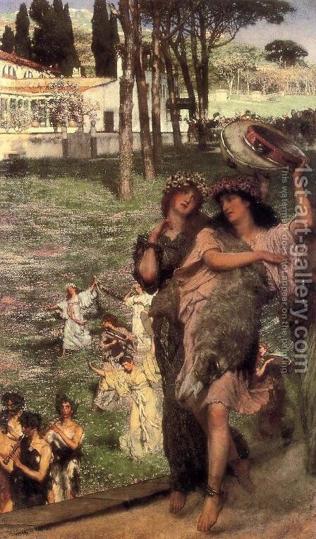 On the Road to the Temple of Ceres: A Spring Festival by Sir Lawrence Alma-Tadema - Reproduction Oil Painting