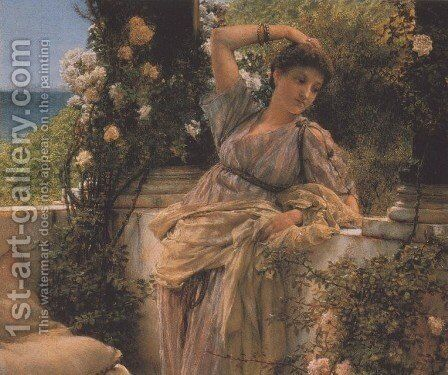 Thou Rose of All Roses by Sir Lawrence Alma-Tadema - Reproduction Oil Painting