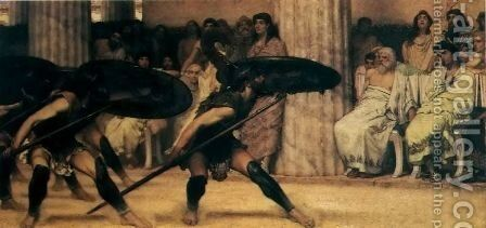 A Pyhhric Dance by Sir Lawrence Alma-Tadema - Reproduction Oil Painting