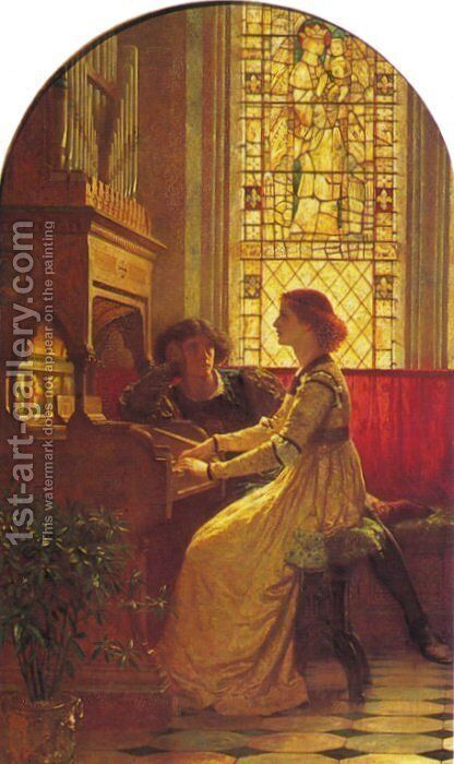Harmony by Sir Thomas Francis Dicksee - Reproduction Oil Painting
