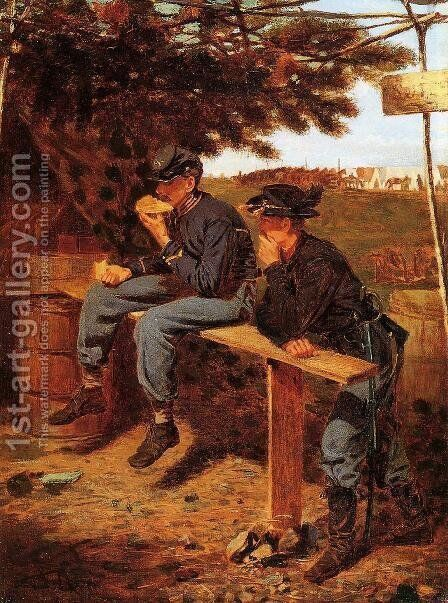 The Tutler's Tent by Winslow Homer - Reproduction Oil Painting