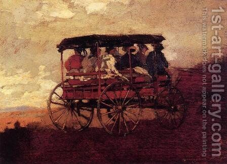 White Mountain Wagon by Winslow Homer - Reproduction Oil Painting