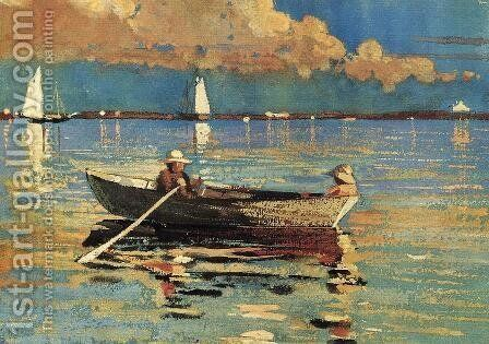 Cloucester Harbor by Winslow Homer - Reproduction Oil Painting