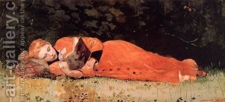 The New Novel by Winslow Homer - Reproduction Oil Painting