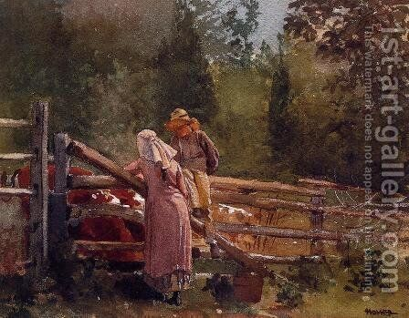 Feeding Time by Winslow Homer - Reproduction Oil Painting