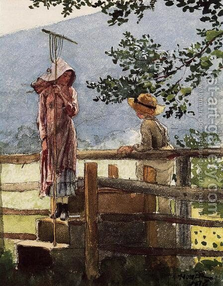 Spring by Winslow Homer - Reproduction Oil Painting