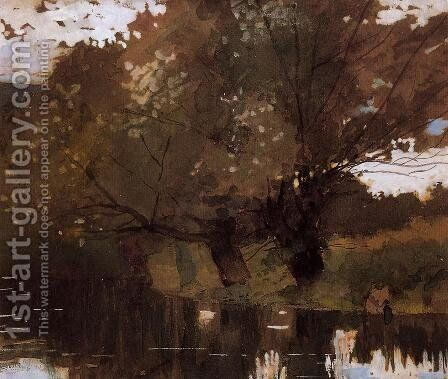 Pond and Willows, Houghton Farm by Winslow Homer - Reproduction Oil Painting