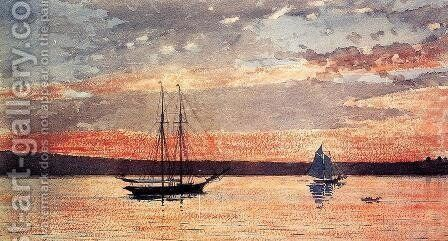 Sunset at Gloucester by Winslow Homer - Reproduction Oil Painting