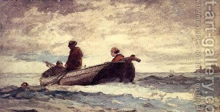Tynemouth Priory, England by Winslow Homer - Reproduction Oil Painting