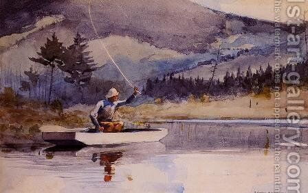 Quiet Pool on a Sunny Day by Winslow Homer - Reproduction Oil Painting