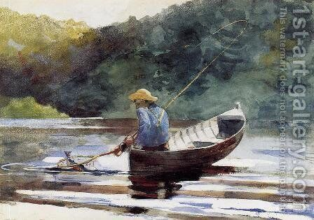 Boy Fishing by Winslow Homer - Reproduction Oil Painting