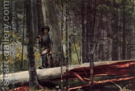 Hunter in the Adirondacks by Winslow Homer - Reproduction Oil Painting