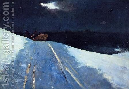 Sleigh Ride by Winslow Homer - Reproduction Oil Painting