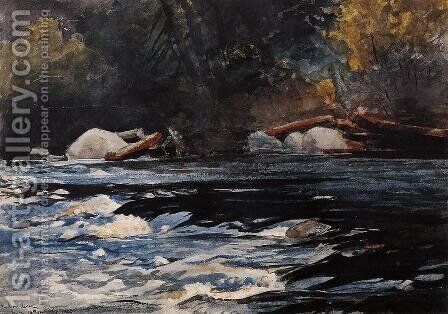 The Rapids, Husdon River, Adirondacks by Winslow Homer - Reproduction Oil Painting