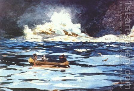 Under the Falls, The Grand Discharge by Winslow Homer - Reproduction Oil Painting