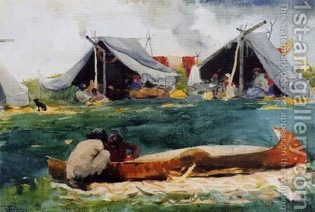 Montagnais Indians by Winslow Homer - Reproduction Oil Painting
