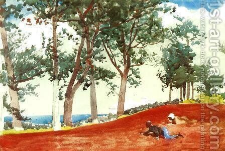 House and Trees by Winslow Homer - Reproduction Oil Painting