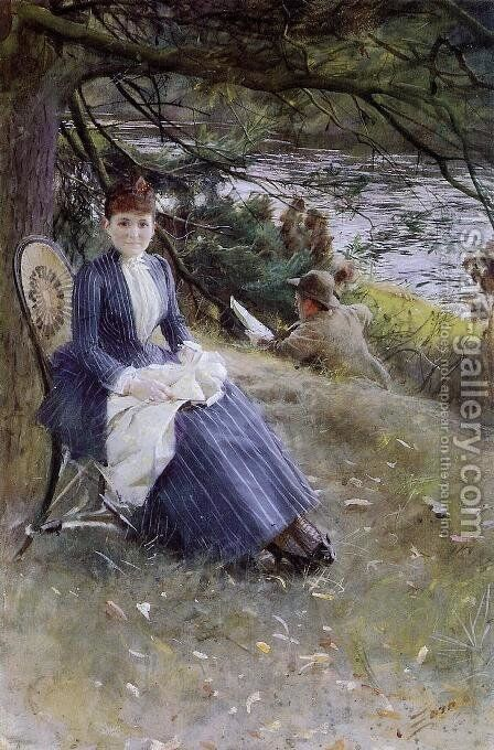 In Scotland by Anders Zorn - Reproduction Oil Painting
