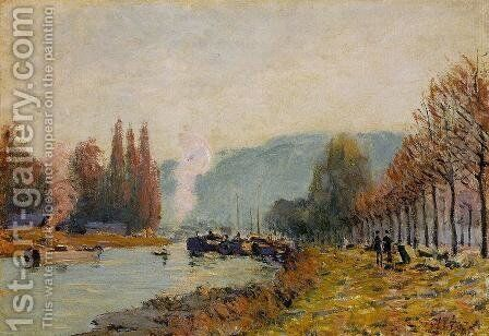 The Seine at Bougival I by Alfred Sisley - Reproduction Oil Painting