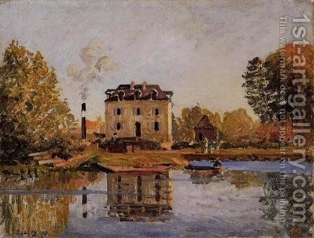 Factory in the Flood, Bougival by Alfred Sisley - Reproduction Oil Painting