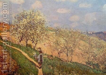 Spring in Bougival by Alfred Sisley - Reproduction Oil Painting
