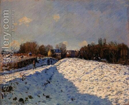 The Effect of Snow at Argenteuil by Alfred Sisley - Reproduction Oil Painting